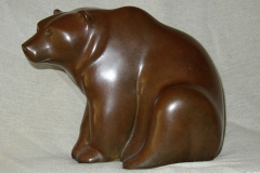 Seated Bear, bronze