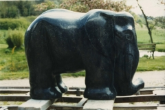 Elephant, Belgian fossil marble