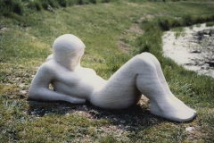 Reclining Figure, Purbeck stone