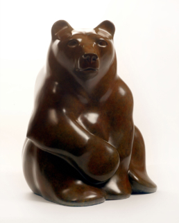 Seated Bear - Bronze