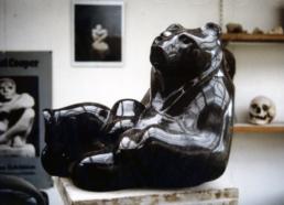 Reclining Bear – Belgian Fossil Marble