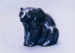 Seated Bear – Belgian Black Marble
