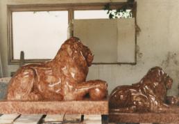 Pair of Lions – Verona Marble