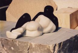 Yin-Yang – Carrara Statuary Marble & Belgian Black Marble